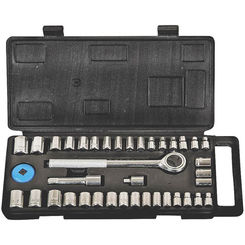Click here to see Mintcraft TG040-23L Mintcraft TG040-23L Socket Wrench Sets, 40 Piece, SAE/Metric