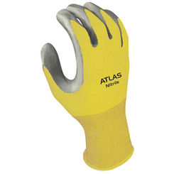Click here to see Showa Atlas 3704CS-06.RT Atlas 370 Protective Gloves, Size 6, Small, Nitrile, Clear, Nylon Lining