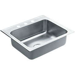 Click here to see Moen 22106 Moen Commercial 22106 Stainless Steel Single Bowl Sink