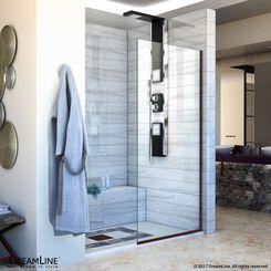 Click here to see DreamLine SHDR-3234721-06 DreamLine Linea Single Panel Frameless Shower Screen 34