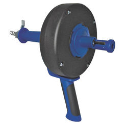 Click here to see Cobra 86150 Cobra 86150 Drain Drum Auger, For Use With Clearing Sink, Shower and Tub Drains, Plastic