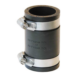 Click here to see Fernco P1056-125 Fernco 1056 Flexible Pipe Stock Coupling, 1-1/4 in x 3-1/2 in, Plastic, 4.3 psi, PVC