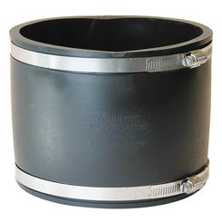 Click here to see Fernco P1056-66 Fernco 1056 Flexible Pipe Stock Coupling, 6 in x 5.74 in, Plastic, 4.3 psi, PVC