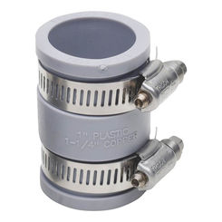 Click here to see Fernco P1056-100 Fernco P1056-100 Flexible Condensate Coupling, 1 in x 2-3/8 in, 4.3 psi