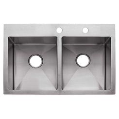 Click here to see Franke HF3322-2 Franke HF3322-2 Kitchen Sinks, Double Bowl, Stainless Steel