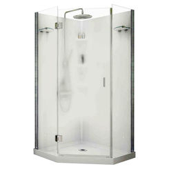 Click here to see Maax 105545 Maax Papaya 105545 3-Piece Shower Stall Kit, 36 in L X 36 in W X 72 in H, Polystyrene, Chrome