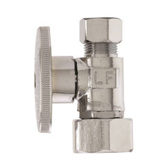 Click here to see Plumb Pak PP2103LF Plumb Pak PP2103LF Quarter Turn Straight Stop Valve, 1/2 X 3/8 in, Female Swivel X Compression, Forged Brass