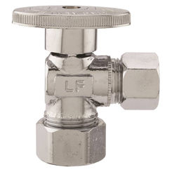 Click here to see Plumb Pak PP62-1PCLF Plumb Pak PP62-1PCLF 1/4 Turn Angle Shut-Off Valve, 5/8 x 1/2 in, Nominal Copper X OD, Brass Body, Chrome Plated