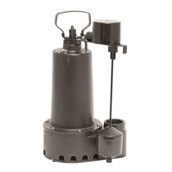 Click here to see Superior 92352 Superior Pump 92352 High Capacity Side Sump Pump, 60 gpm, 1/3 hp, 120 V, Cast Iron, 1/2 in Inlet x 1-1/2 in Outlet