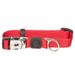 Click here to see Aspen Pet 20806 Aspen 20806 Adjustable Pet Collar, 1 in W X 16 - 26 in L, Nylon, Red