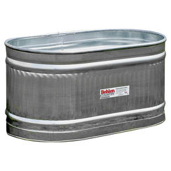 Click here to see Behrens 50130028 Behrens 50130028 Round End Farm Stock Tank, 103 gal 4 ft L X 2 ft W X 2 ft H, 20 ga Steel