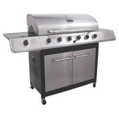 Click here to see Char-Broil 463230514 Char-Broil 463230514 6-Burner Gas Grill With Side Burner, 65000 BTU, LPG, 900 sq-in