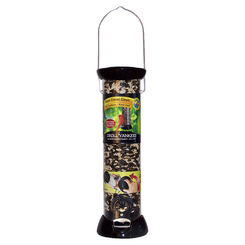Click here to see Droll Yankees CC12S Droll Yankees Onyx Clever Clean Seed Feeder, 1 lb Capacity 6 in W x 6 in L x 17 in H, Black