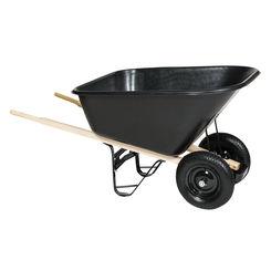 Click here to see Mintcraft 33636 Mintcraft 33636 Wheelbarrow, 8 cu-ft, 2 Wheel, Black