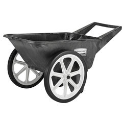 Click here to see Rubbermaid 565461BLA Newell Rubbermaid 565461BLA Big Wheel Utility Cart, 200 lb, 3.5 cu-ft, Gray