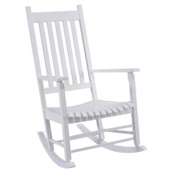 Click here to see Seasonal Trends KN 28W Worldwide Sourcing KN 28W Mission Rocking Box Chair, 46-1/4 in H x 4-3/4 in W x 24-1/4 in D, White
