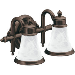 Click here to see Moen YB9862ORB Moen YB9862ORB Waterhill 2-Globe Bath Lighting, Oil-Rubbed Bronze