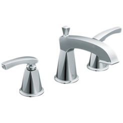 Click here to see Moen TS458 Moen TS458 Divine Two-Handle Widespread Lavatory Faucet, Chrome