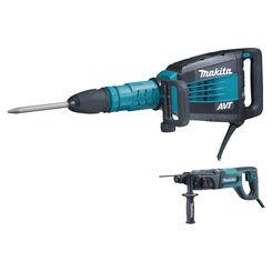 Click here to see Makita HM1214CX Makita HM1214CX 27 lb. AVT Demolition Hammer, accepts SDS-MAX bits and 1