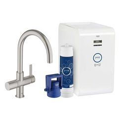 Click here to see Grohe 31251DC1 Grohe 31251DC1 Blue Chilled and Sparkling Starter Kit, SuperSteel Infinity
