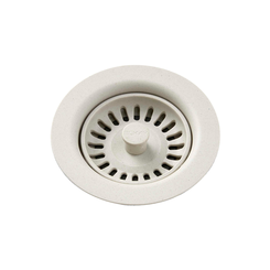 Click here to see Elkay LKQS35BQ Elkay Polymer Drain Fitting with Removable Basket Strainer and Rubber Stopper Bisque - LKQS35BQ