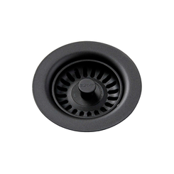 Click here to see Elkay LKQS35BK Elkay Polymer Drain Fitting with Removable Basket Strainer and Rubber Stopper Black - LKQS35BK