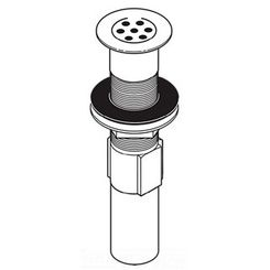 Click here to see Delta RP47648SS Delta RP47648SS Stainless Grid Strainer Assembly, Less Overflow