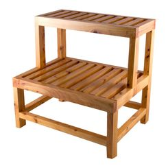Click here to see Alfi AB4402 ALFI AB4402 20-Inch Wooden Bathroom Double-Step Stool