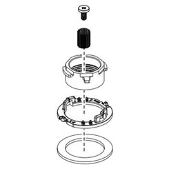 Click here to see Delta RP92257 Delta RP92257 Pivotal Above Deck Mounting Hardware - Chrome