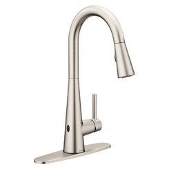 Click here to see Moen 7864EWSRS Moen 7864EWSRS Sleek MotionSense Wave Single Handle Pulldown Kitchen Faucet, Spot Resist Stainless