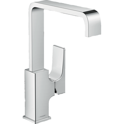 Click here to see Hansgrohe 32511001 Hansgrohe 32511001 Metropol 230 Single-Hole Faucet with Lever Handle and Swivel Spout, Chrome