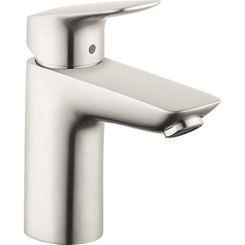 Click here to see Hansgrohe 71100821 Hansgrohe 71100821  Logis Single-Hole Faucet 100 with Pop-Up Drain, Brushed Nickel