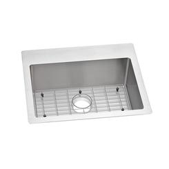 Click here to see Elkay ECTSR25229TBG0 Elkay ECTSR25229TBG0 Crosstown Stainless Steel Single Bowl Dual Mount Sink Kit