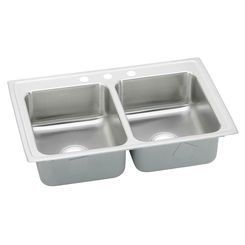 Click here to see Elkay PSR33193 Elkay PSR33193 Pacemaker Stainless Steel Double Bowl Sink