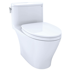 Click here to see Toto MS642124CUFG#01 TOTO Nexus 1G One-Piece Elongated 1.0 GPF Universal Height Toilet with CEFIONTECT and SS124 SoftClose Seat, WASHLET+ Ready, Cotton White - MS642124CUFG#01