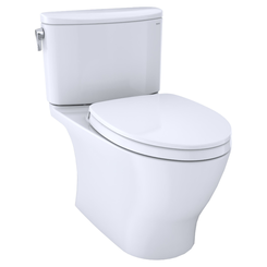 Click here to see Toto MS442124CEFG#01 TOTO Nexus Two-Piece Elongated 1.28 GPF Universal Height Toilet with CEFIONTECT and SS124 SoftClose Seat, WASHLET+ Ready, Cotton White - MS442124CEFG#01