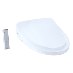 Click here to see Toto SW3054AT40#01 TOTO S550e WASHLET+ and Auto Flush Ready Electronic Bidet Toilet Seat with EWATER+ and Auto Open and Close Classic Lid, Elongated, Cotton White - SW3054AT40#01