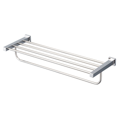 Click here to see Toto YTS408BU#CP TOTO L Series Square Towel Shelf with Hanging Bar, Polished Chrome - YTS408BU#CP