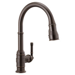 Click here to see Delta 9990-RB-DST Delta 9990-RB-DST Broderick One Handle Pulldown Bar Faucet, Venetian Bronze
