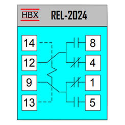 Click here to see HBX REL-4024 HBX REL-4024 4PDT Relay 24V Coil 5A