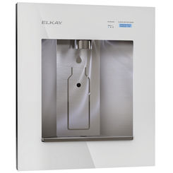Click here to see Elkay LBWDC00WHC Elkay LBWDC00WHC ezH2O Liv Pro In-Wall Commercial Water Dispenser - Non-Refrigerated, Filtered, Aspen White