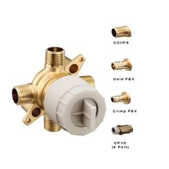 Click here to see Moen U140XS Moen U140XS M-CORE Tub/Shower Rough In Valve, PEX Connection - with Stops