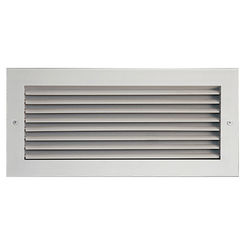 Click here to see Shoemaker 935-0-12X6 12X6 White Vent Cover (Stamped Steel One Piece Frame) - Shoemaker 935-0 Series