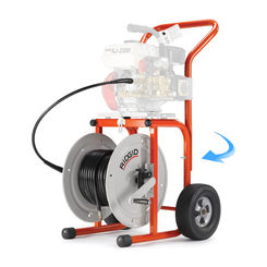 Click here to see Ridgid 62877 Ridgid 62877 Model H-30 Jetter Cart With 110' of 1/2