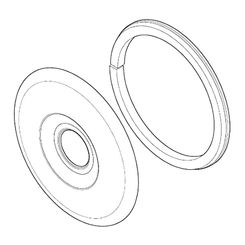 Click here to see Pfister 960-891A Pfister 960-891A Polished Chrome Flange and Gasket Subassembly