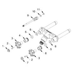 Click here to see Woodford RK-22MH Woodford RK-22MH Repair Kit for Model 22 Hot & Cold Wall Faucet