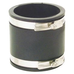 Click here to see Fernco P1056-33 Fernco 1056 Flexible Pipe Stock Coupling, 3 in x 3.981 in, Plastic, 4.3 psi, PVC