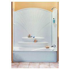 Click here to see Maax 101592-000-129 Maxx Decora 101592-000-129 5-Piece Bathtub Wall Kit, 56 - 60 in L X 30 - 30-3/8 in W X 63 in H