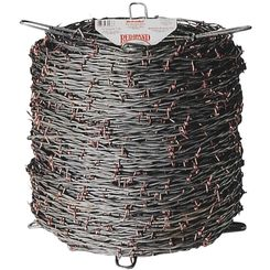 Click here to see Keystone Wire 70476 Red Brand 70476 2-Point Barbed Wire, 1320 ft L, Steel, Galvanized