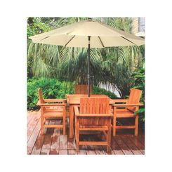 Click here to see Seasonal Trends 60036 SEASONAL TRENDS 60036 Market Crank Umbrella, 55.1 in L x 5-1/21 in W x 5-1/21 in H, Taupe